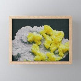 Sulfur on Celestine Framed Mini Art Print