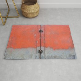 Red over Grey Rug