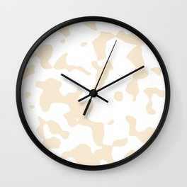 Large Spots - White and Champagne Orange Wall Clock