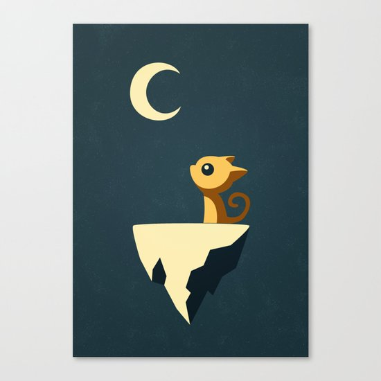 Moon Cat Canvas Print
