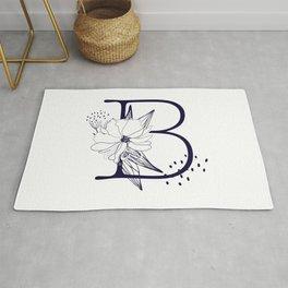Alphabet Monograms-letter B Rug