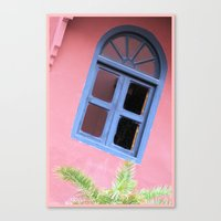 morrocan Canvas Prints featuring Blue Morrocan Window by Brian Raggatt