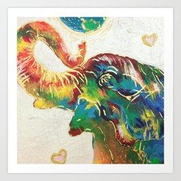 Colourful Elephant Art Print