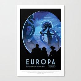 Europa - NASA Space Travel Poster Canvas Print
