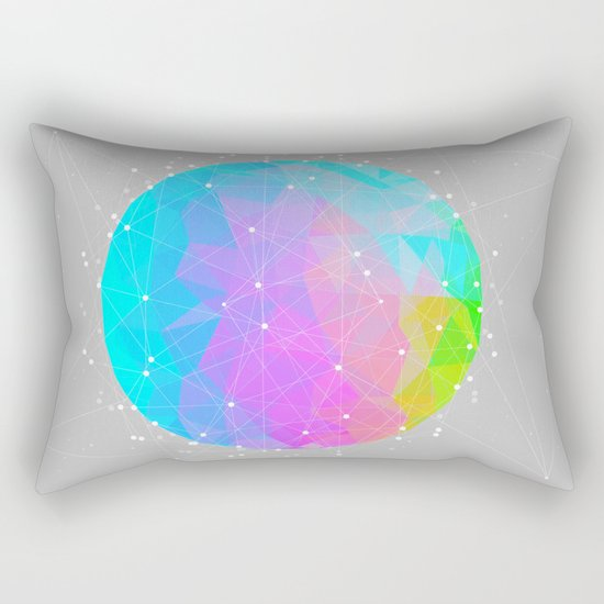 The Dots Will Somehow Connect (Geometric Sphere) Rectangular Pillow