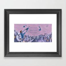 POEM OF FLING Framed Art Print