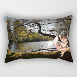 Lakeside Meditation Rectangular Pillow