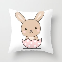 Bunny Rabbit Cute Animals For Kids Easter Bunny Throw Pillow