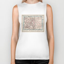 Colorado Counties Map (1893) Biker Tank