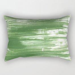 Fern green abstract watercolor Rectangular Pillow