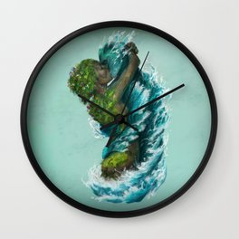 Kiss of the Land and Sea Wall Clock