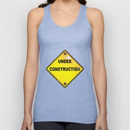 Yellow Under Construction Sign Unisex Tank Top