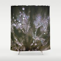 glitter Shower Curtains featuring glitter by Bonnie Jakobsen-Martin