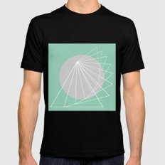 Everything belongs to geometry #5 MEDIUM Black Mens Fitted Tee