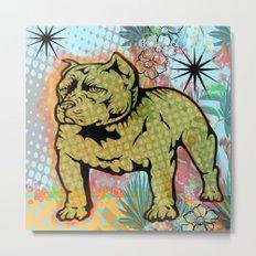 Cool dog pop art Metal Print
