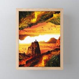 Lava Isolation Framed Mini Art Print