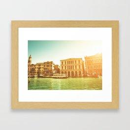 canal grande on venice Framed Art Print
