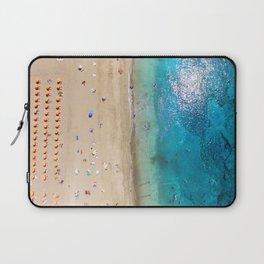 AERIAL. Summer beach Laptop Sleeve