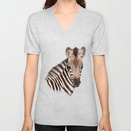 Baby Zebra Unisex V-Neck
