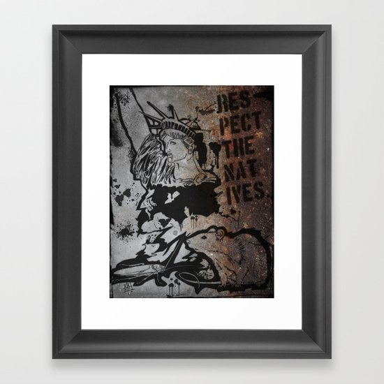 Locals Only - New York City. Framed Art Print