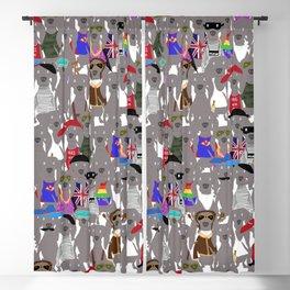 Big Dog Weim Nation Grey Ghost Weimaraner Hand-painted Pet Pattern on White Blackout Curtain