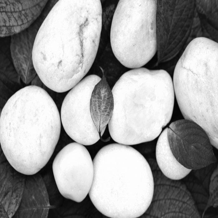 Zen White Stones On A Black Background #decor #society6 #buyart Duvet Cover