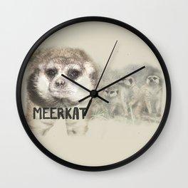 Meerkats Exposed Wall Clock