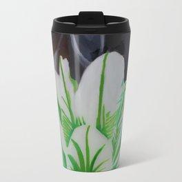 Green Rose Travel Mug