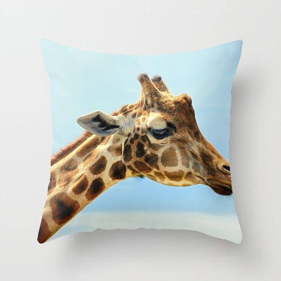 Jeffery the Giraffe Throw Pillow
