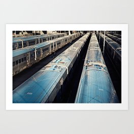 Subway Trains, New York Art Print