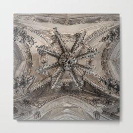 Sedlec Ossuary Ceiling Metal Print