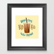 Happy National Iced Tea Day! Framed Art Print