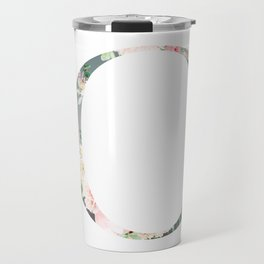 C - Floral Monogram Collection Travel Mug