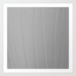 Strokes white Art Print