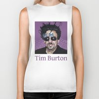 tim shumate Biker Tanks featuring Tim Burton by Pazu Cheng