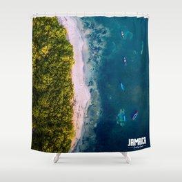 Fantasy Beach, Jamaica Shower Curtain