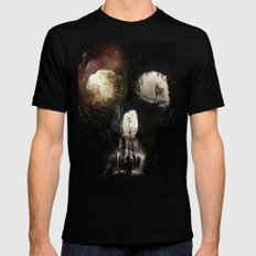 Cave Skull Black LARGE Mens Fitted Tee