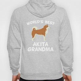 World's Best Akita Grandma Hoody