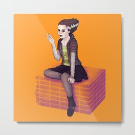 Bride of Frankenstein Metal Print
