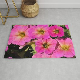 Pops of Pink Petunias With Magenta Hues Rug