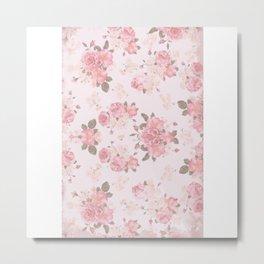 Rose Paper Metal Print