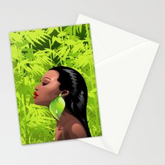 Woman African Beauty and Bamboo Stationery Cards