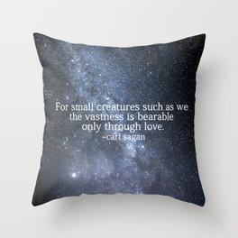 Carl Sagan and the Milky Way Throw Pillow