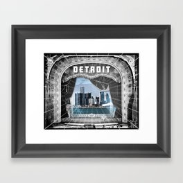 The Big Show - Detroit, Michigan Framed Art Print