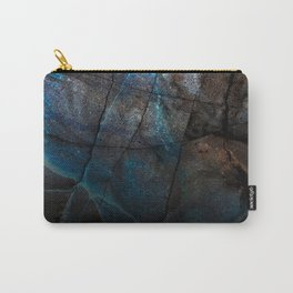 Deep Blue Marble - Ombre black Carry-All Pouch
