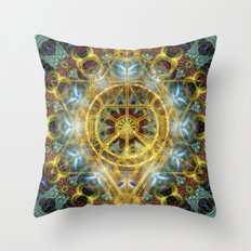 Sacred Geometry Fractal Mandala Throw Pillow