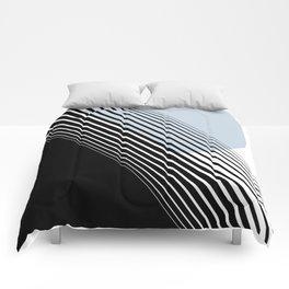 Rising Sun Minimal Japanese Abstract White Black Blue Comforters