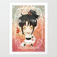 chibi Art Prints featuring Chibi Ashura by Neo Crystal Tokyo