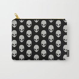 Glitter Grey Aliens Carry-All Pouch