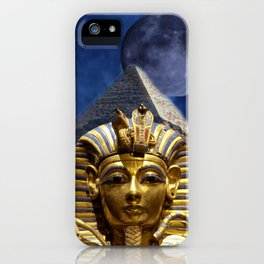 King Tut and Pyramid iPhone Case